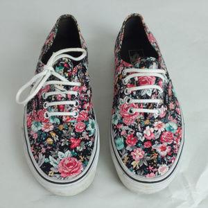 Vans Floral Flower Print Sneakers Women's 9